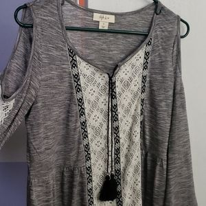 Style and Co cold shoulder top